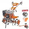 Motosapatoare RURIS 731ACC2 + roti cauciuc 4.00-10 + rarita + accesoriu tractat (7312019acc2)
