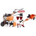 Motosapa Ruris DAC 7009ACC + set roti cauciuc + 2 rarite + cultivator + plug + adaptor + remorca 450kg